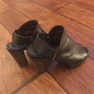 Leather free people heels